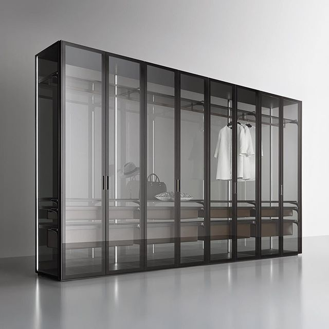The latest wardrobe from Rimadesio. Cover is a freestanding storage system with exceptional versatility in possible compositions and dimensions. No wall mounting required; all elements are fixed directly onto the supporting structure of the doors without visible screws, and is available with its own internal equipment. Available exclusively from Pure Interiors.