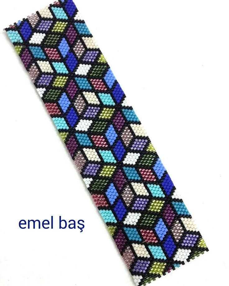 Peyote bracelet by Emel Bas from Turkey                                                                                                                                                                                 More