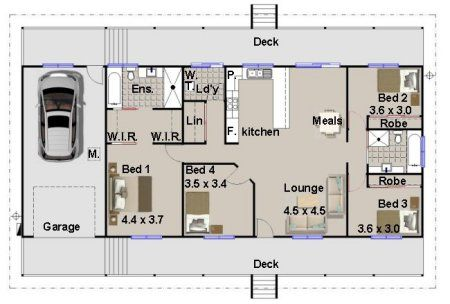 Homestead / Ranch House Plan