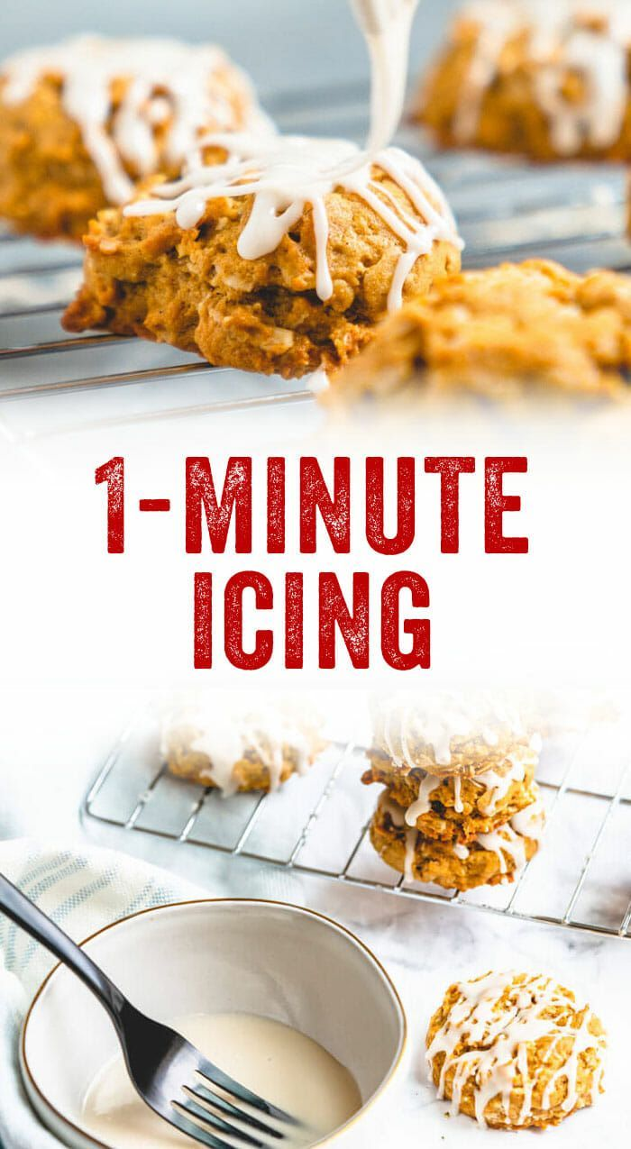 1 Minute Powdered Sugar Icing A Couple Cooks Recipe Powdered Sugar Icing Sugar Icing Vegetarian Cookbook