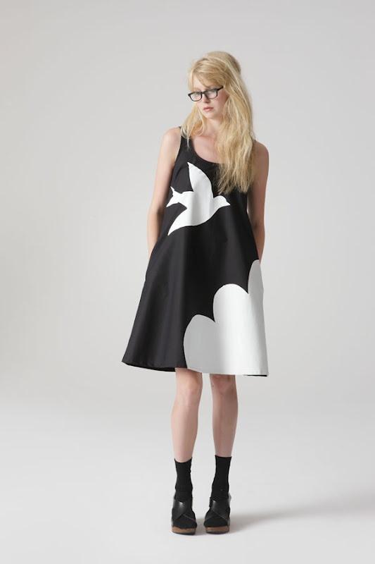 Cloud trapeze dress