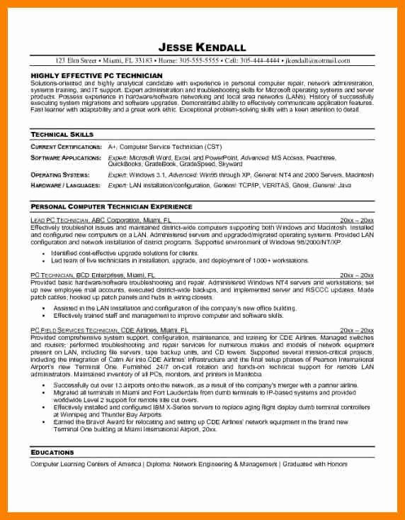 20 Entry Level Help Desk Resume | Computer support, Technician, Resume