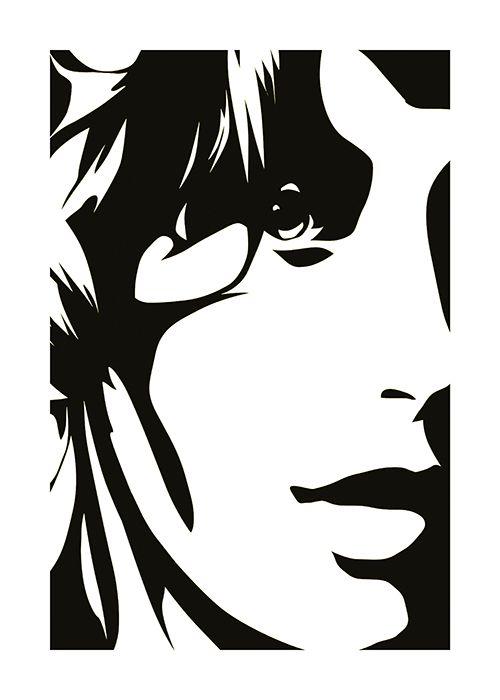 #Poster #Kunstdruck Fine #Art #Print Chao Zhang Beautiful Girl in black Twenty Four Gallery #twentyfourgallery #illustration #artprint