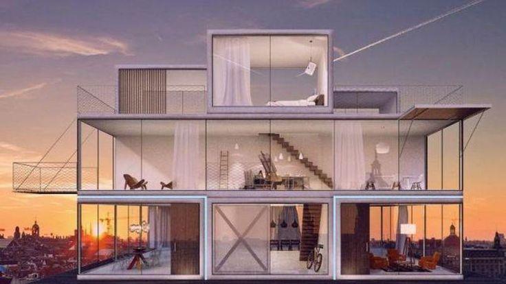 Une ingénieuse maison modulable à la gloire du jeu Tetris