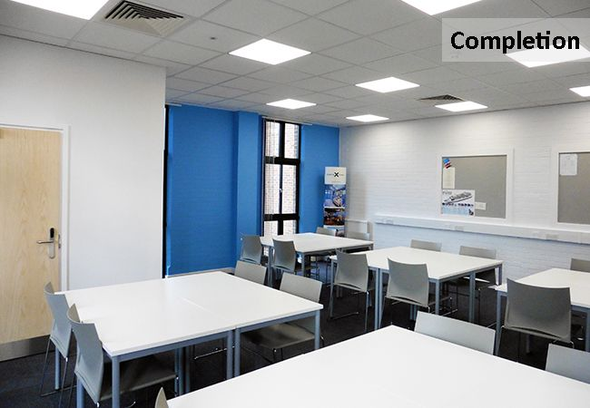 Modern Classroom Space  www.rapinteriors.com Photography by RAP Interiors