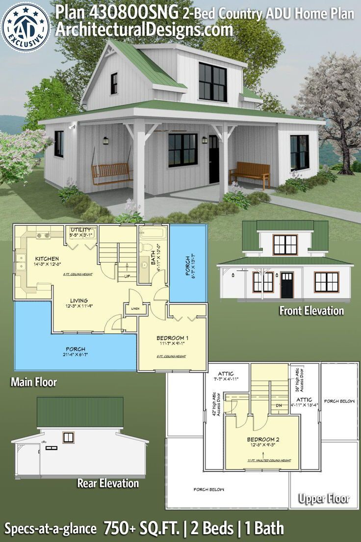 Plan 430800sng Quaint 2 Bed House Plan With Wrap Around Porch Country Cottage House Plans Craftsman House Plans Cottage House Plans