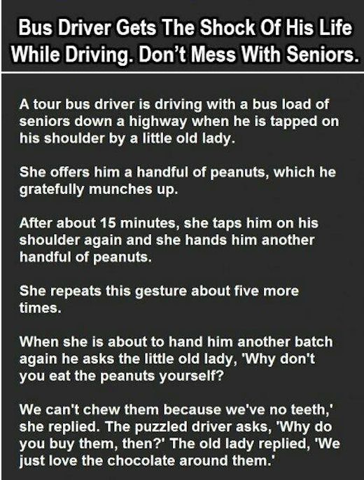 Bus Driver Gets The Shock Of His Life While Driving... funny jokes story lol funny quote funny quotes funny sayings joke hilarious humor stories funny jokes
