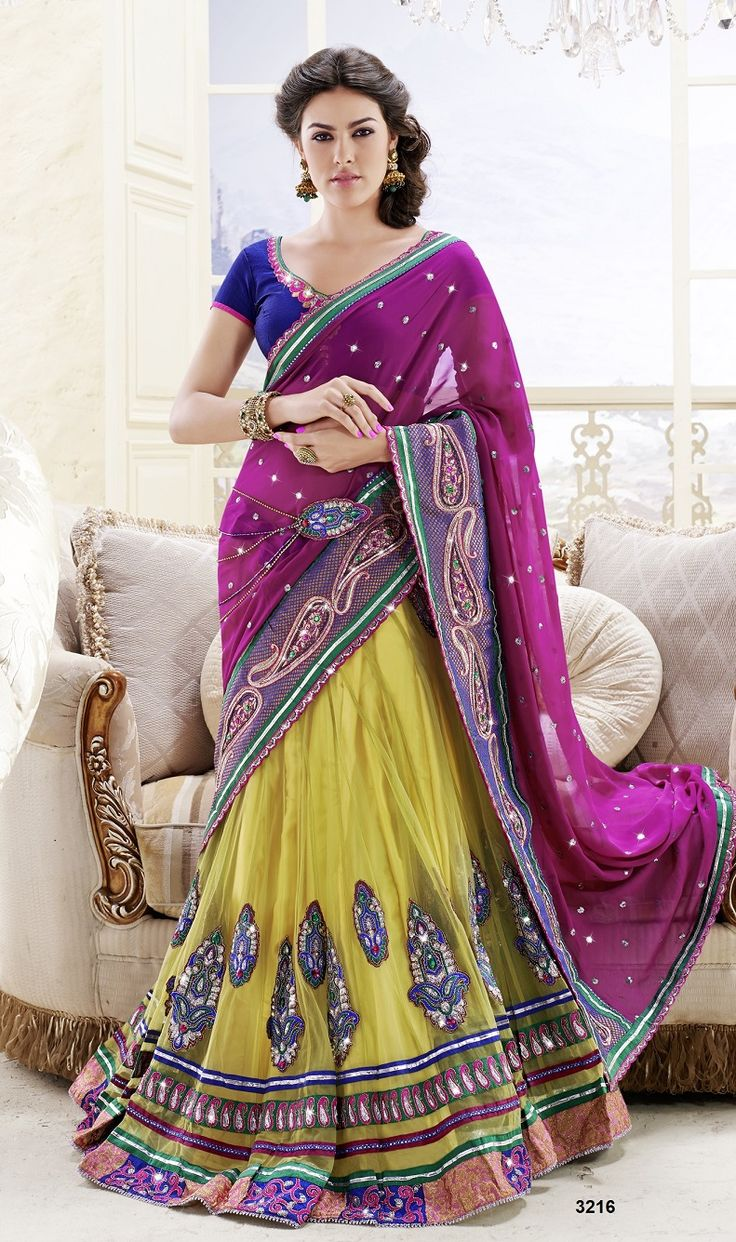Khazanakart Heavy Embroidery Faux Georgette/Net And Satin Saree
