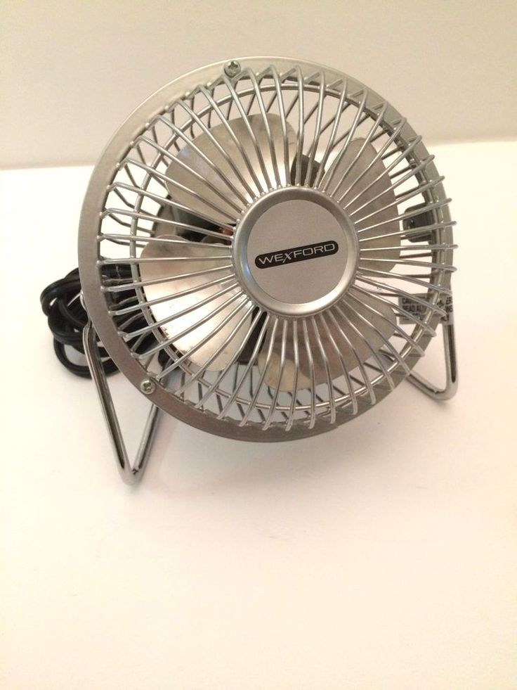 "Wexford Desk Fan, High Velocity, Small 4"" Model MF-4, Silver, Excellent Cond. #Wexford"