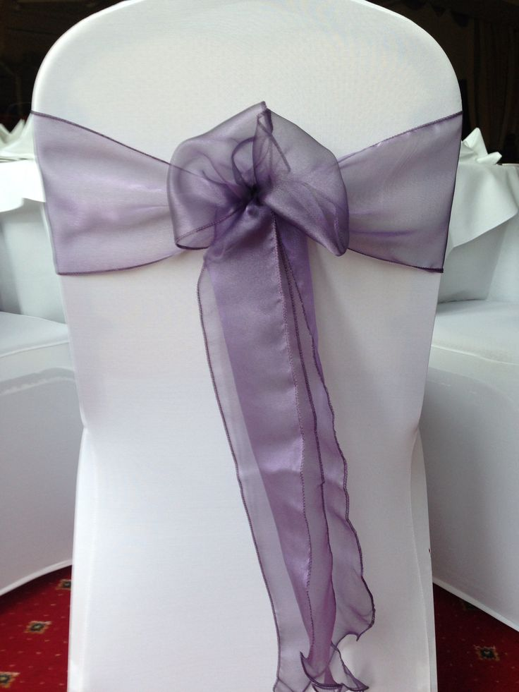 Dusky Lilac organza sashes x