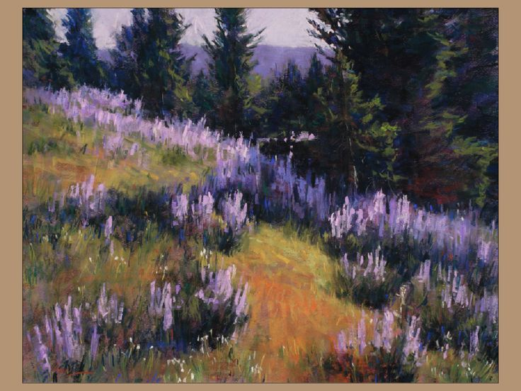 "Pastel artist Lorenzo Chavez, ""Secret Garden"" 16 x 20, using Great American Pastels"