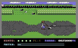 Uuno Turhapuro muuttaa maalle on yksi mielenkiintoisimmista 80-luvulla Commodore 64:lle julkaistuista peleistä.