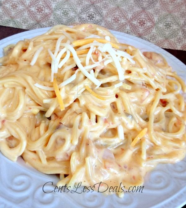 Easy Chicken Spaghetti – on the stop top or CrockPot! My kids devoured this then begged for more! Plus it was so easy to make!