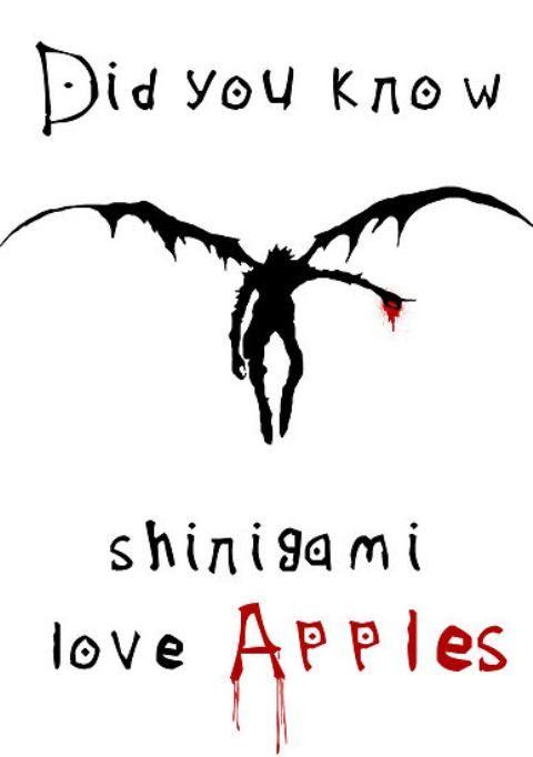 【 Death Note デスノート 】 Ryuk, shinigami, apples, wallpaper