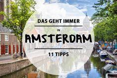 Amsterdam hat die wunderschönsten Kanäle, Brücken und Hausboote der Welt. Des…