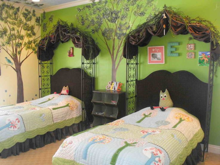 enchanted forest bedroom ideas for your kids bedroom drop dead gorgeous twin kid enchanted