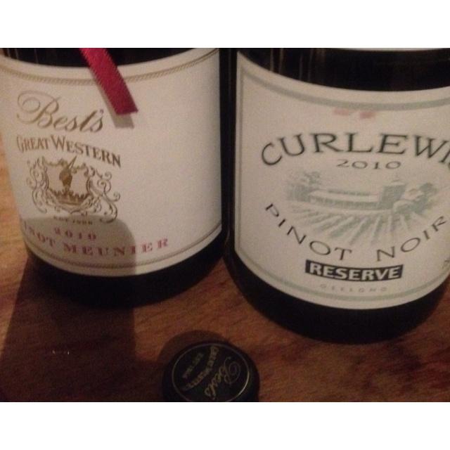 2010 Best's Great Western Pinot Meunière & 2010 Curlewis Pinot Noir Reserve