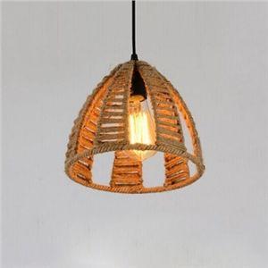 (EU Lager)Mini Pendelleuchte Kuppel Design aus Hanfseil 1-Flammig