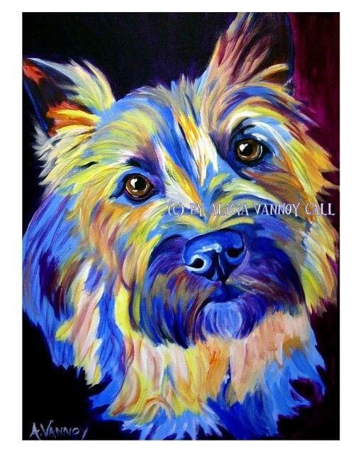 Cairn Terrier Pet Portrait DawgArt Dog Art Pet Portrait