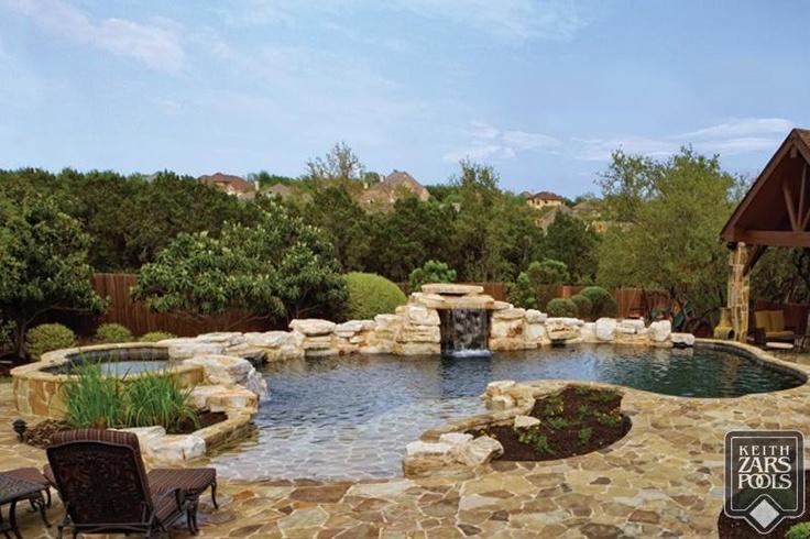 A Pretty Keith Zars Pool In San Antonio Waterfall Beachentry Spa San Antonio Custom