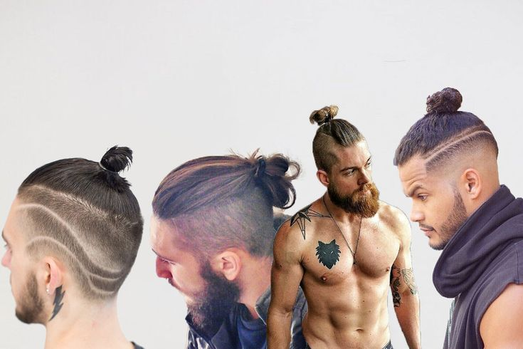 Sharp looks with male top knots.