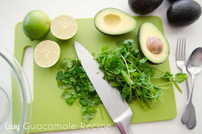 homemade guacamole recipe. Simple, easy ingredients!