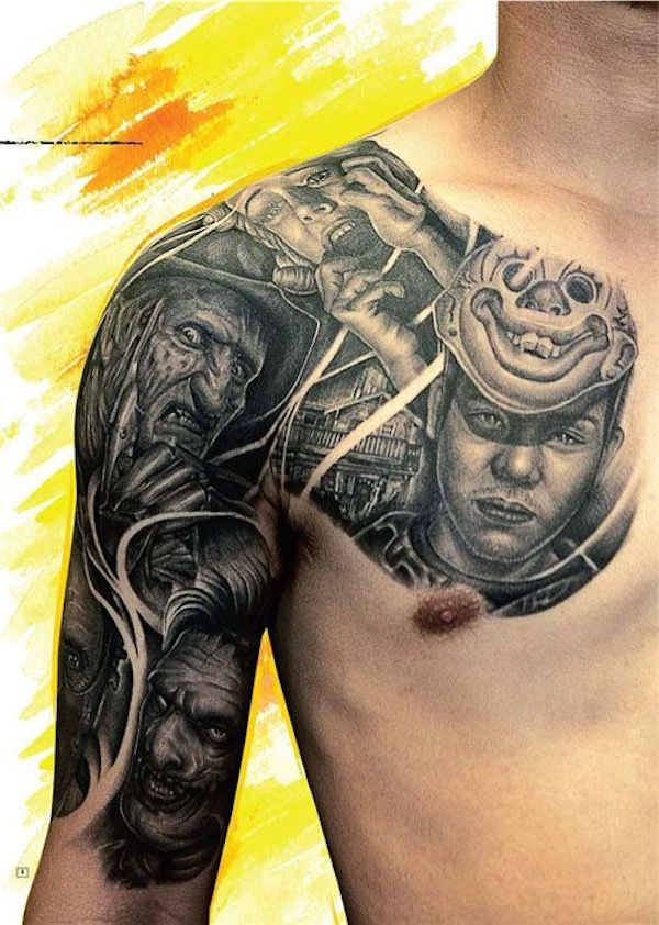 Male Chest Tattoo Gallery: 145 Best Images About Chest Tattoos For Men On Pinterest