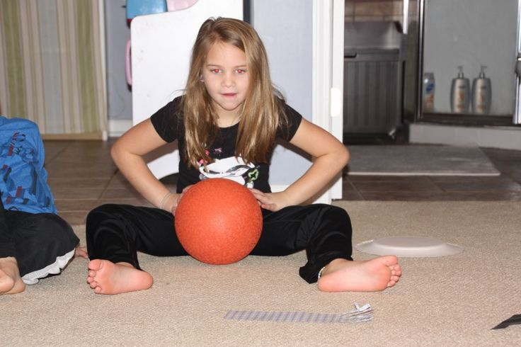 snowball roll is a gross motor game for practicing ball skills, body control and hand eye coordination