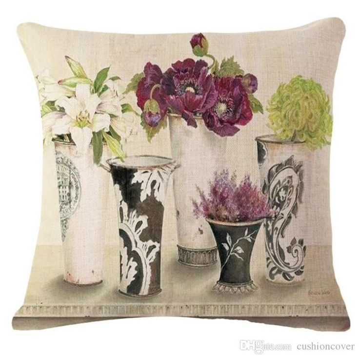 Pot Culture Design Cover Cotton Linen Printing Cojines Home Textiles Sofa Pillow Case Decorative Square Almofadas Patio Chair Cushions Clearance Sunbrella Chair Cushions From Cushioncover, $5.13| Dhgate.Com