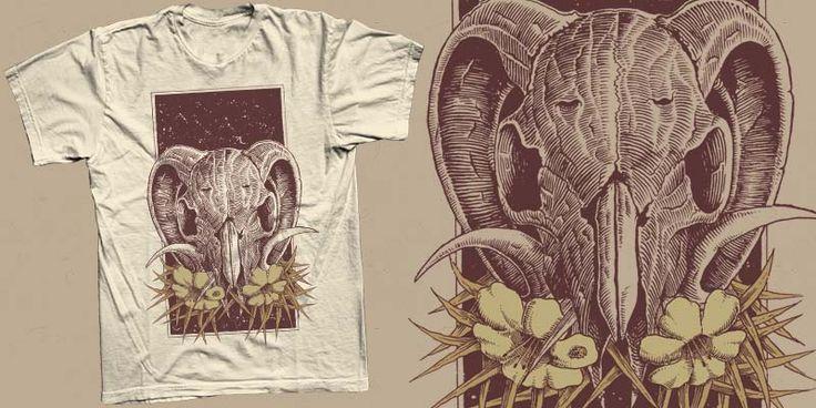 """Skull Flower"" t-shirt design by atsakti"