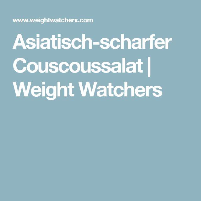 Asiatisch-scharfer Couscoussalat | Weight Watchers
