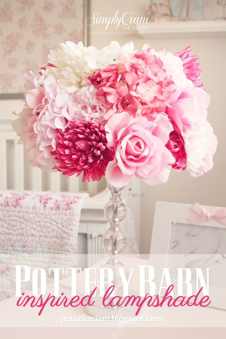 Pottery barn clift glass lamp ebay - Simply Ciani The Look For Less Diy Potterybarn Lamp Shade Girls Room