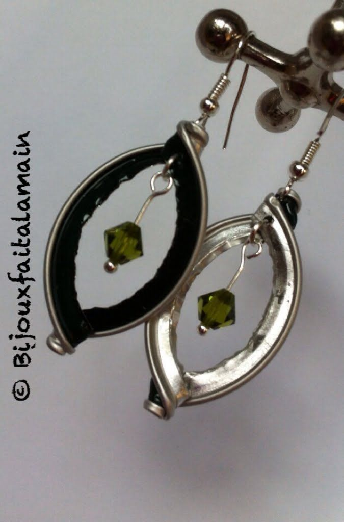 Jewelry tutorial for earrings with nespresso capsule ♥