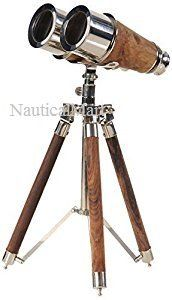 Chrome Binocular on Stand Collectible By Nauticalmart: Amazon.co.uk: Toys & Games