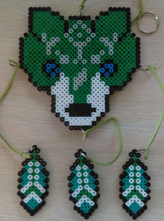 Wolf Link Dreamcatcher Perler