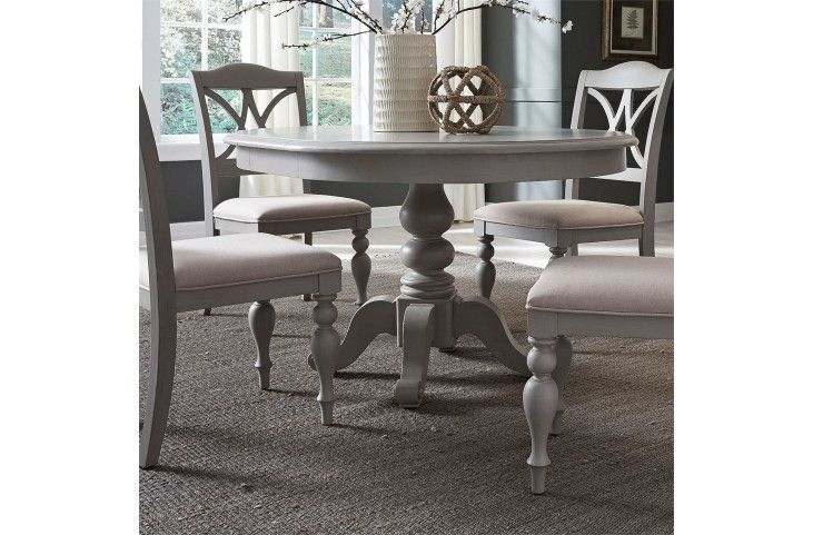 Summer House Dove Grey Round Extendable Dining Table From Liberty