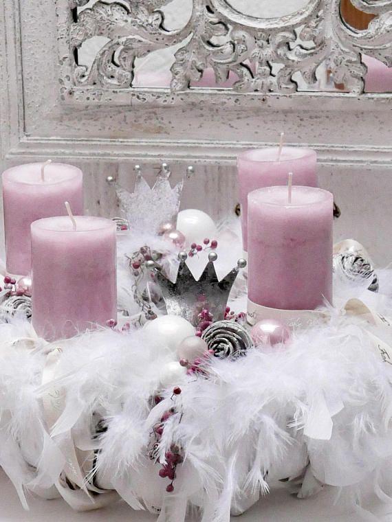 advent wreath winter deko weihnachten. Black Bedroom Furniture Sets. Home Design Ideas