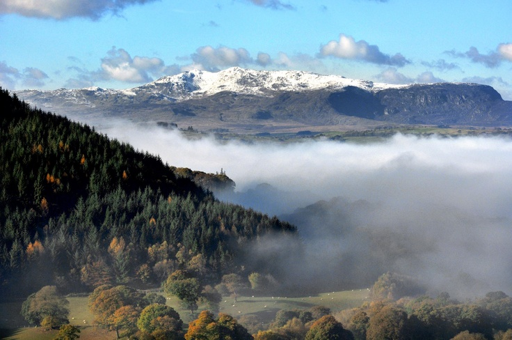 Mist in the valley near Bala lake
