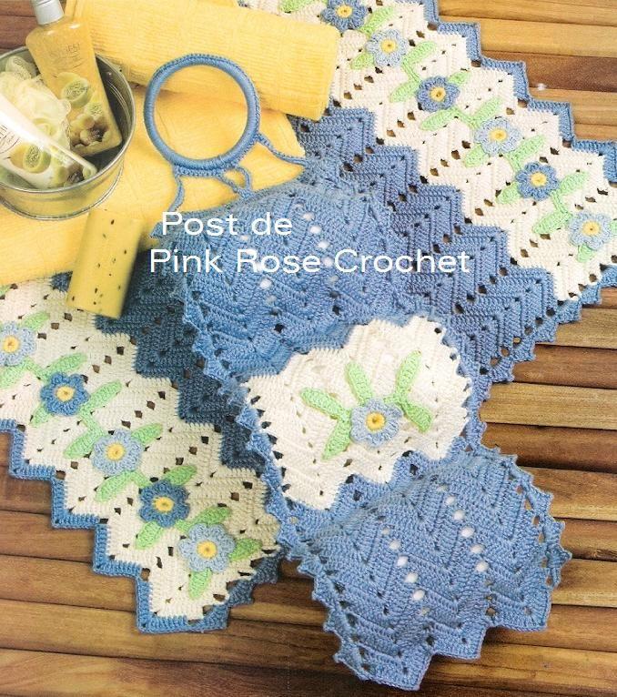 baño crochet  juego de baño a crochet  decoracion para ...