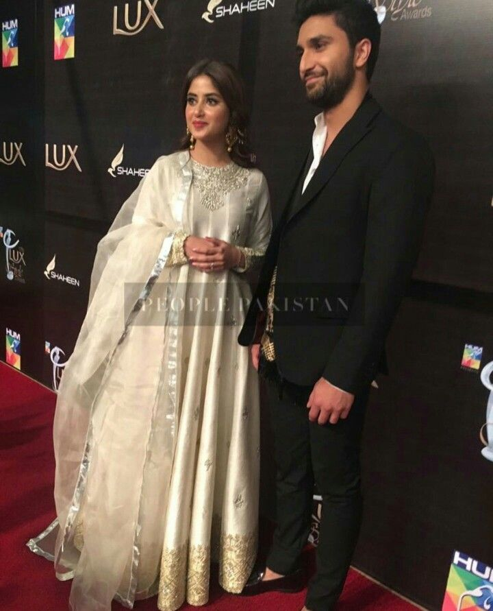 Ahad raza mir and sajal aly Lux style awards 2018 | The