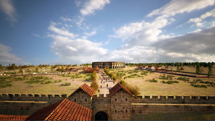 Archaeologists have detected the remains of bakeries, food stands and shops that would have served spectators at ancient Roman gladiator fights