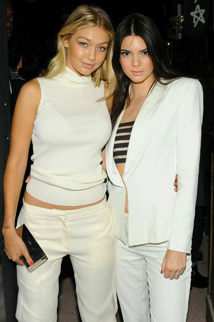 Your One Stop Shop For All The Fashion Week Party Pics #refinery29  http://www.refinery29.com/2014/09/73966/fashion-week-party-pictures-2015#slide1  Teen darlings Gigi Hadid and Kendall Jenner get matchy-matchy in black and white.