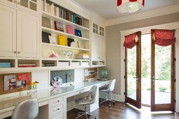 Transitional Home Office by Minneapolis Interior Designers & Decorators Martha O'Hara Interiors