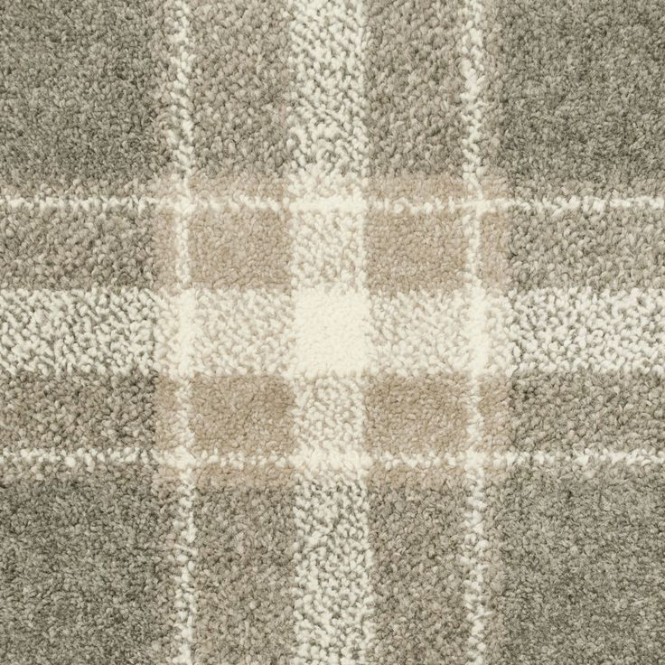 Grey & Beige Tartan Castle Wilton Carpet