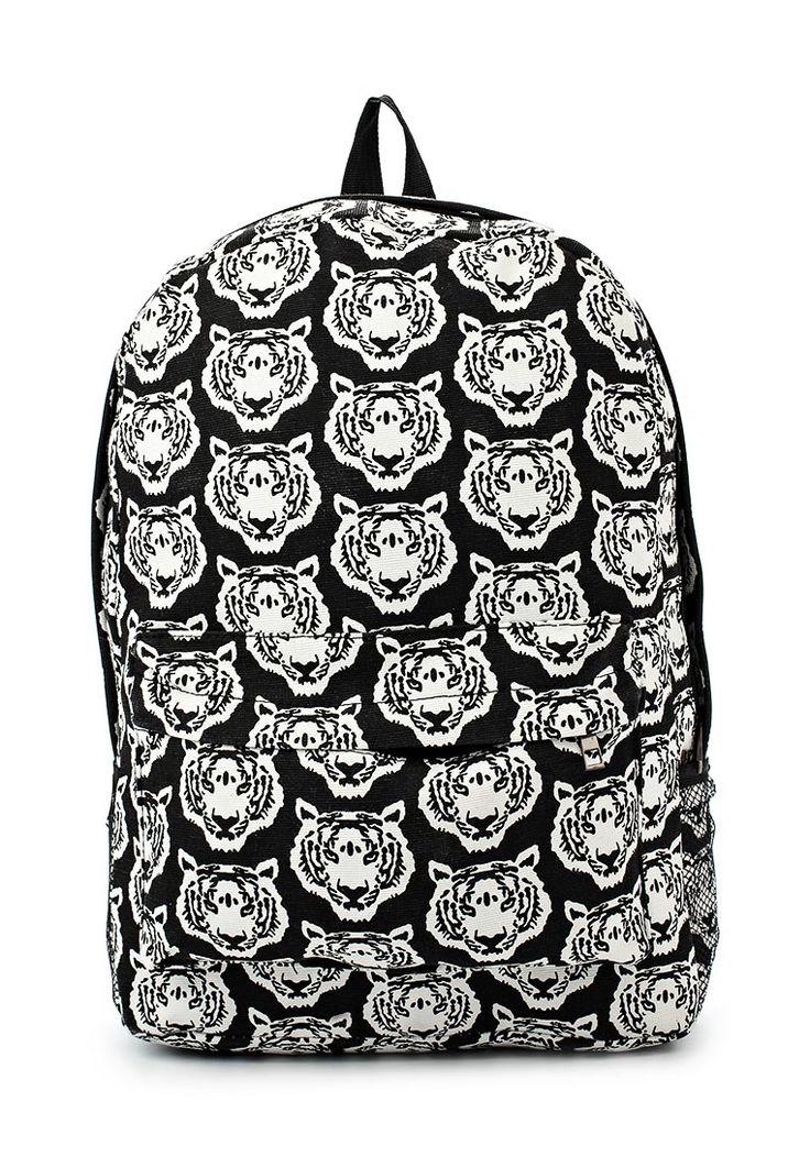 Текстильный дизайнерский рюкзак с белыми тиграми — http://fas.st/WSoWRp
