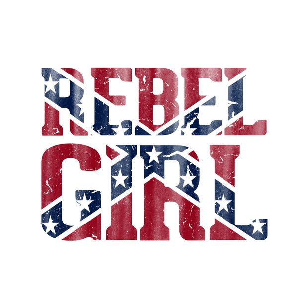 Rebel Girl Vintage Southern Confederate Flag Art Print by RexLambo ...