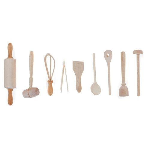 Found it at Wayfair - 9-Piece Kids Kitchen Utensil Set