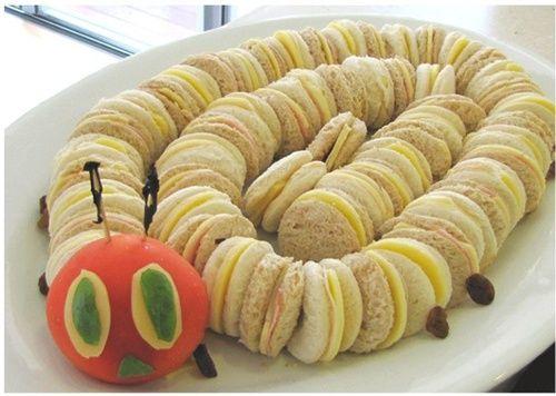 Presentación creativa de sandwiches para fiesta infantil | Fiestas infantiles y cumpleaños de niños