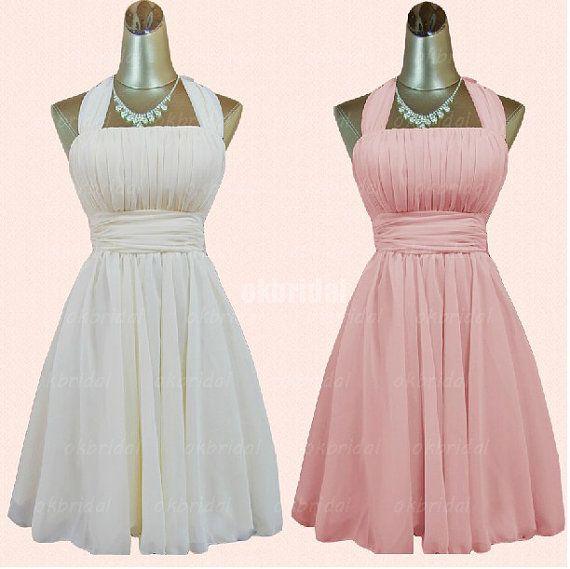 short prom dress, chiffon prom dress, RE211 on Etsy, $109.99