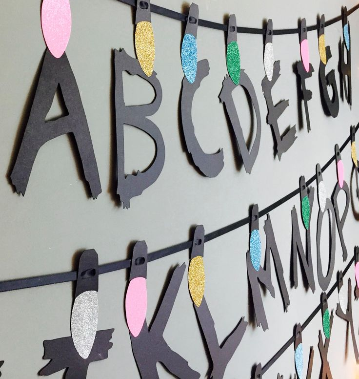 Stranger Things Garland, Christmas banner, party decorations